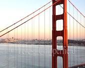 Golden Gate Bridge Photo San Francisco Image Bay Area Print Bridge Photography Sunset California Travel Wall Art Red Paint Landmark Historic