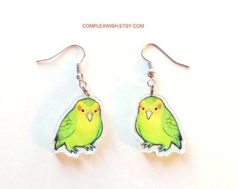 Kakapo the Flightless Parrot earring