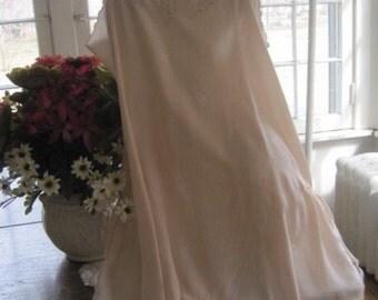 Vintage 1930's Silk Teddy... Nightgown...Wedding Lingerie...Bridal Wear