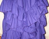 Maxi Skirt Long Purple 25 Yard Hem Wedding Formal Evening Skirt Pirate or Gypsy Petticoat Victorian Steampunk