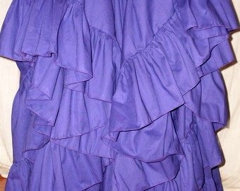 Maxi Skirt Long Purple 25 Yard Hem Wedding Formal Evening Skirt Pirate or Gypsy Petticoat Victorian Steampunk