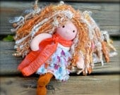 Meet Tangerine ...a wee 8 inch Short Story Waldorf Doll by Once Upon A Doll