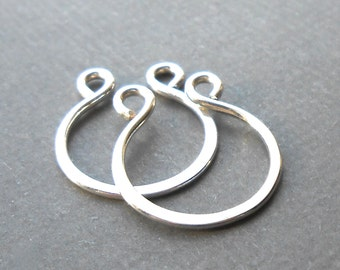 Small Sterling Silver Horseshoe Links, Sterling Silver Findings