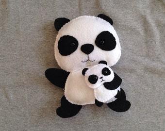 Panda Toy with Baby Panda