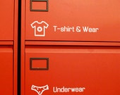 4 Storage Closet Life Decal Stickers - White (8.8 x 2in)