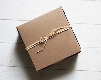 6 x 6 x 3   Kraft Cupcake or Gift Boxes of 30