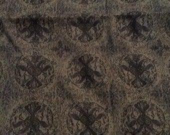 Vintage fabric, Medallions, Dark Brown