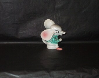 Vintage Japan Ceramic LARGE EAR Adorable Mouse Figurine