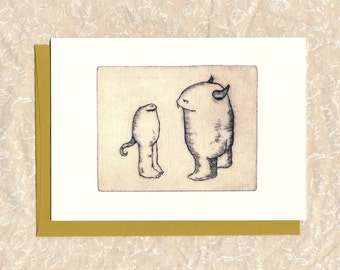 """5"""" x 7"""" card with Envelope Title: """"I See You"""""""