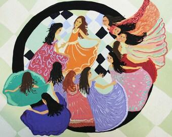 12 Dancing Sisters - Print