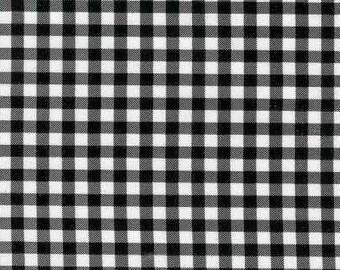 Gingham Black Fabric,  Yard Oilcloth