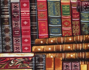 Library Books - Timeless Treasures - Half Yard