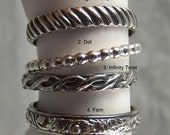 One Sterling Silver Stacking Ring Your Choice