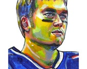 Tom Brady New England Patriots Painting Reproduction Print 11 x 8.5