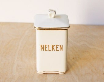 Antique Nelken (Cloves) Canister - Max Roesler - Germany