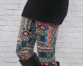 50% off - Now 7.50 - Ladies Leggings - Free Shipping to USA - aztec leggings, tribal leggings, patterned leggings, womens leggings, zig zag