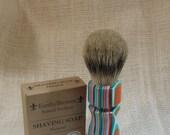 Funky Fiesta Acrylic Shaving Brush, Chunky Handled, 26 mm Super Synthetic Badger #BB2