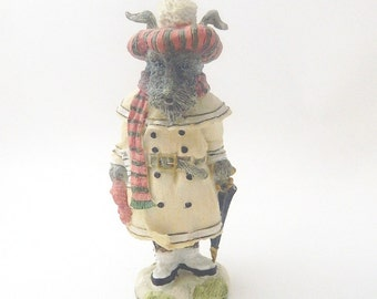 The Victorian Collection - Scotty McPaws -1993 - Resin Scottish Terrier Dog