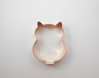 Medium Owl Copper Cookie Cutter - Hand Crafted by The Fussy Pup