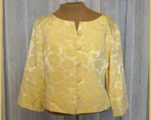 Vintage 60s Yellow Crop Jacket