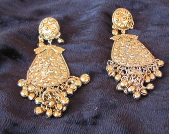 Vintage 80s - Belly Dancer Style Post Earrings