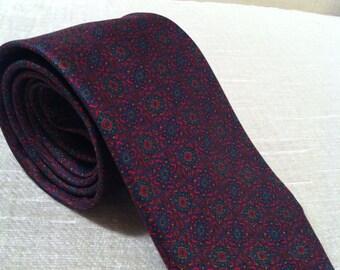 Regal Mosaic Silk Vintage GUY LAROCHE Necktie