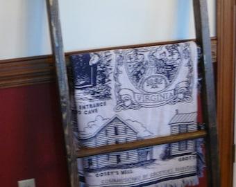 handmade woodquilt ladder or blanket ladder. custom made