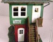 """Vintage Train Station Building Vollmer Plastic HO Train Model 2 Story """"Hillside Junction Station"""""""