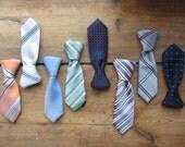 Upcycled Necktie Necklace, Recycled Clothing, Necktie Collar, Mini Necktie Pendant, Repurposed Neckties, Hipster Necktie, Menswear Inspired