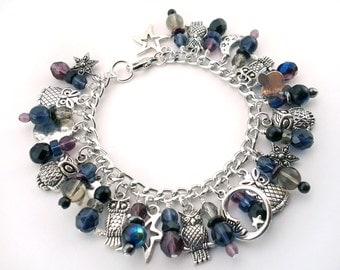 Night Owl Charm Bracelet