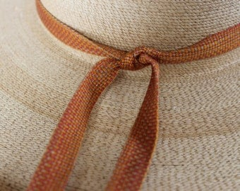 Silk Ribbon, Hand-dyed and Handwoven, Hatband