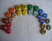 24 Piece Rainbow Beer Bottle Cap Collection