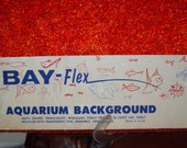 Mid Century NIB Red Translucent Jewel Lucite Bay-Flex Aquarium Background - 10 Gallon - New Old Stock 4 of 4