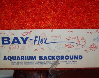 Mid Century NIB Red Translucent Jewel Lucite Bay-Flex Aquarium Background - 10 Gallon - New Old Stock 4 of 4