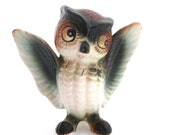 Vintage Small Brown Owl  Figurine