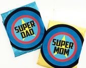 2 SET - Full Name Adult SUPERHERO Capes - Personalized - Includes 2 Custom Capes - Ships Fast - Perfect Super Hero Capes for Men and Women