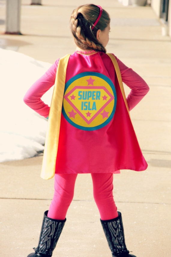 girls full name custom shield cape personalized superhero cape