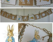 "Peter Rabbit ""It's a Boy"" Baby Shower Banner Easter banner new baby Beatrix Potter"