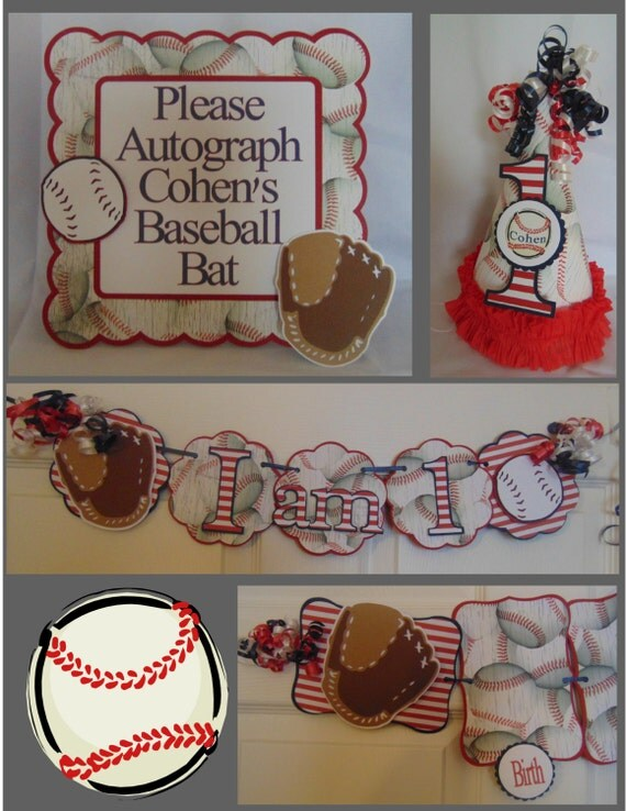 Items similar to baseball 1st birthday petite birthday for 1st birthday decoration packages