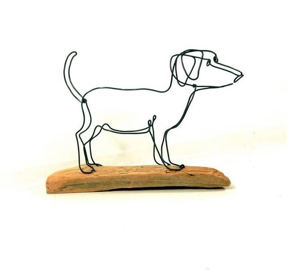Dog wire sculpture bing images for Dog wire art