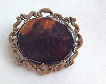 Victorian Brooch Scottish Agate