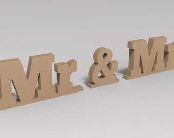 Wooden letters Mr and Mrs sign for wedding Custom Made.