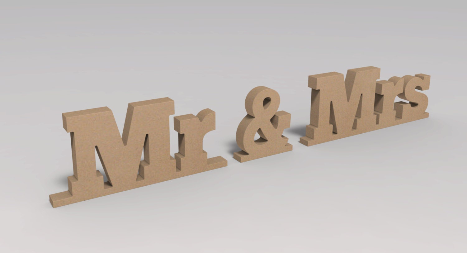 Wooden Letters Mr And Mrs Sign For Wedding Custom Made