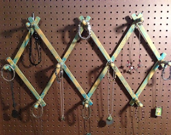 Jewelry Organizing Display (Orange and Aqua Retractable Rack)