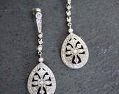 Bridal Chandelier earring, Rhinestone earrings, Wedding Jewelry, Crystal chandelier earrings,Art deco earrings, vintage bridal jewelry