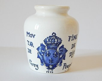 mustard jar french vintage sarreguemines digoin