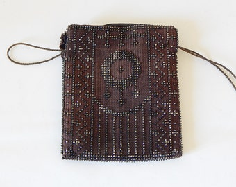 small french purse metal beads