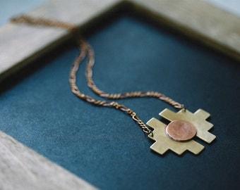 Canyon Dweller Necklace | Modern Brass Southwestern Jewelry | Summer Style