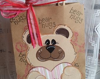 Original Light  Brown Bear Gift Bag