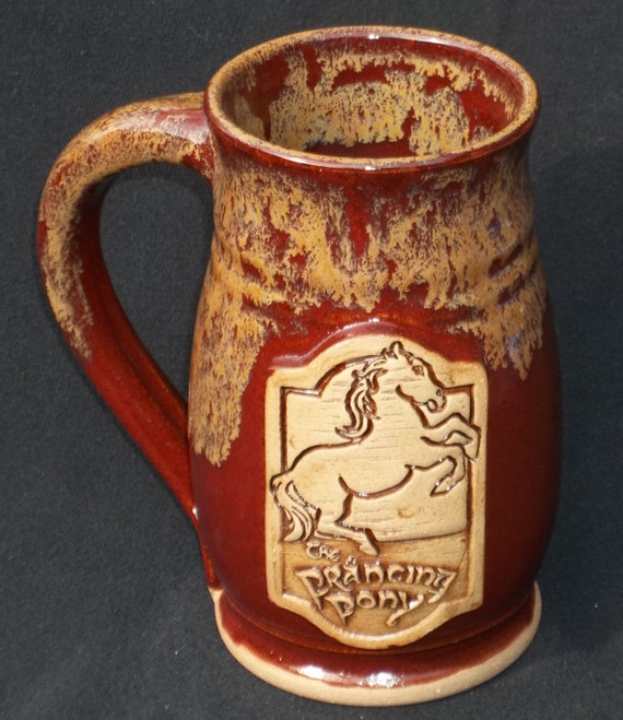 Prancing pony mug 16 ounce hobbit lord of the rings jasper over